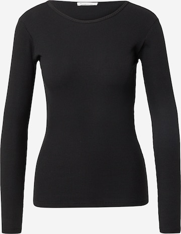 KnowledgeCotton Apparel Тениска 'CANNA' в черно
