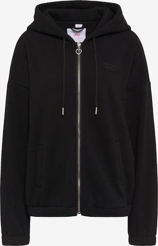 MYMO Zip-Up Hoodie in Black