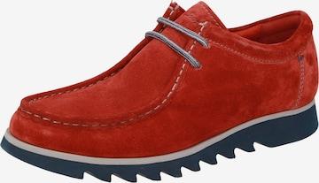 SIOUX Schnürschuh in Rot