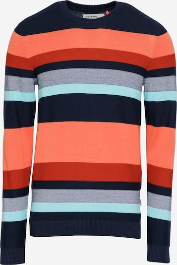 BLEND Pulover u mornarsko plava / akvamarin / koraljna / roza / crvena, Pregled proizvoda