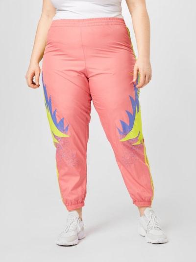 ADIDAS ORIGINALS Pantalon 'Fakten' en bleu / jaune / rose, Vue avec modèle