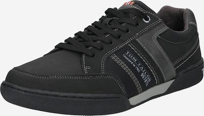TOM TAILOR Zemie brīvā laika apavi, krāsa - pelēks / melns, Preces skats