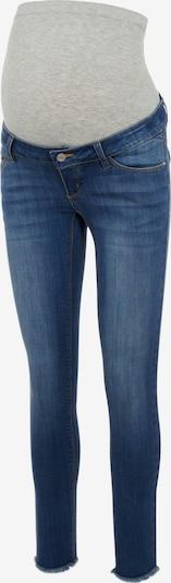Pieces Maternity Jeans 'Della' in blue denim / graumeliert, Produktansicht