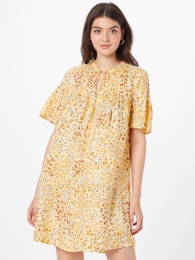 s.Oliver Košeľové šaty - dymovo modrá / žltá / tmavozelená / homárová / biela, Model/-ka