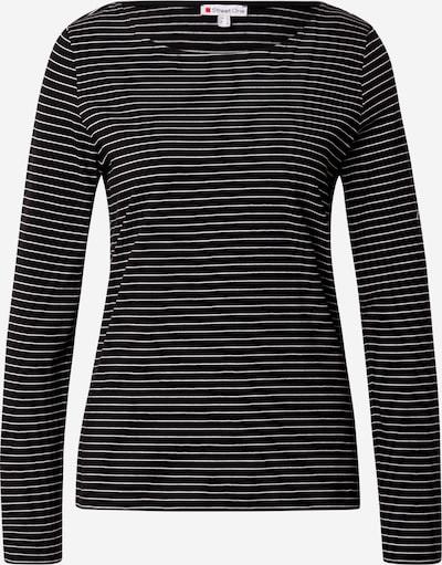 STREET ONE Shirt in schwarz / weiß, Produktansicht