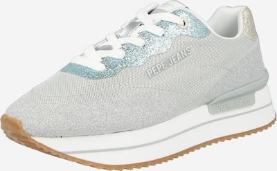Pepe Jeans Låg sneaker 'RUSPER SPLASH' i ljusblå / guld / grå / silver, Produktvy