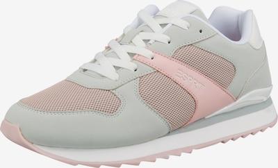ESPRIT Sneaker 'Ambro Lu' in hellgrau / pastellpink / weiß, Produktansicht