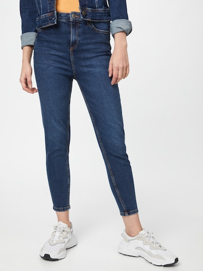 Miss Selfridge Jeans 'Emily' in de kleur Donkerblauw, Modelweergave