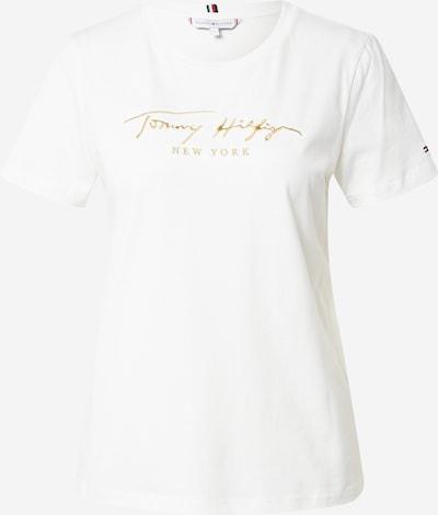 TOMMY HILFIGER T-Shirt in goldgelb / weiß, Produktansicht