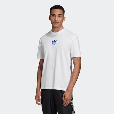 ADIDAS ORIGINALS Shirt 'Trefoil' in de kleur Blauw / Wit: Vooraanzicht