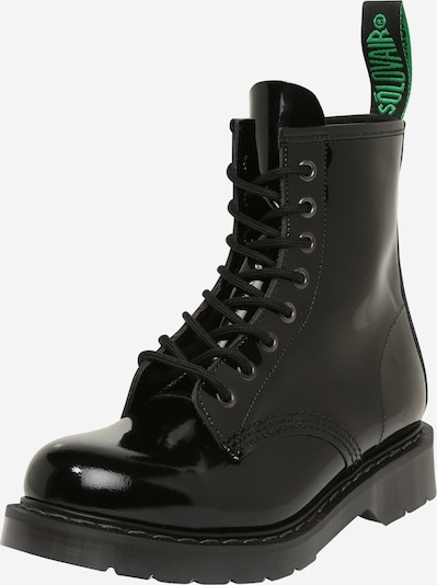 Solovair Lace-up bootie '8 Eye' in Black, Item view