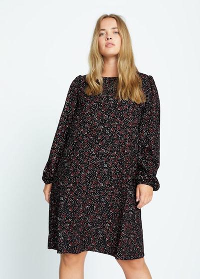 VIOLETA by Mango Kleid in rot / schwarz / weiß, Modelansicht