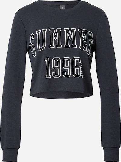 ONLY PLAY Sportsweatshirt 'MIKA' in schwarz / weiß, Produktansicht