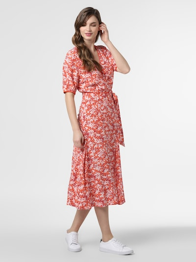 TOMMY HILFIGER Kleid 'Leonora' in dunkelorange / rot / weiß, Modelansicht