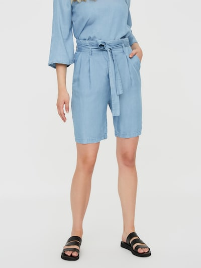 VERO MODA Pleat-front trousers 'VIVIAN ANEVE' in Light blue, View model