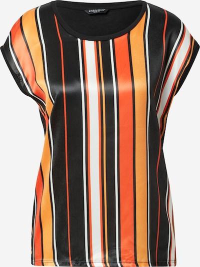 ZABAIONE Shirt 'Ivy' in orange / mandarine / schwarz / weiß, Produktansicht