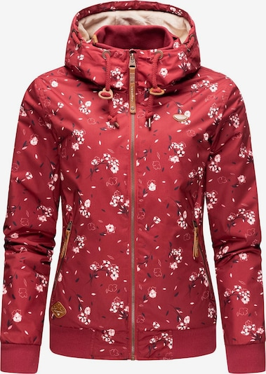 Ragwear Winterjacke ' Nuggie ' in pastellpink / knallrot, Produktansicht