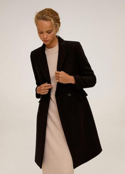 MANGO Prijelazni kaput 'Dali' u crna, Prikaz modela