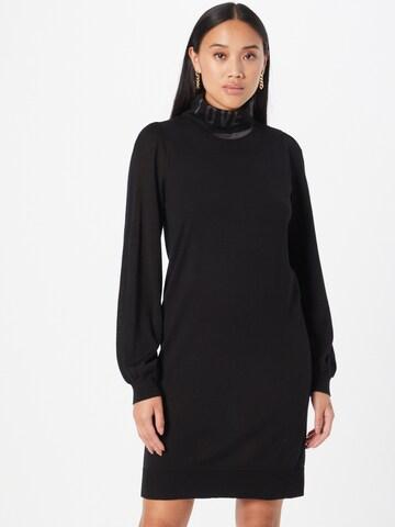 Love Moschino Kootud kleit, värv must
