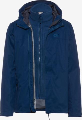 JACK WOLFSKIN Outdoor jacket 'Terrace 3in1' in Blue
