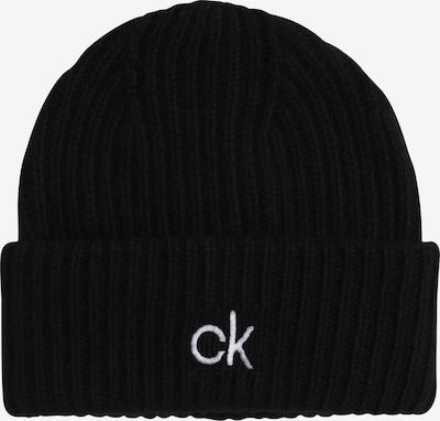 Căciulă Calvin Klein pe negru / alb, Vizualizare produs