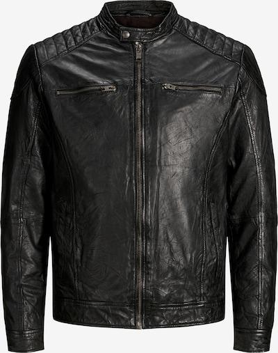 JACK & JONES Lederjacke in schwarz, Produktansicht