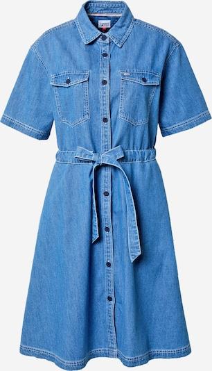 Tommy Jeans Рокля тип риза в син деним, Преглед на продукта