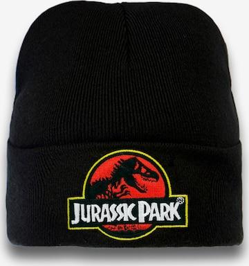 LOGOSHIRT Beanie 'Jurassic Park' in Black