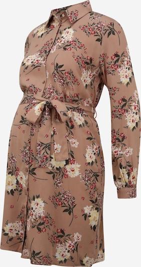 Pieces Maternity Blusenkleid 'Paola' in beige / mischfarben, Produktansicht