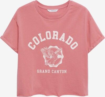 MANGO TEEN COLLECTION T-Shirt 'ARIZONA' en rose ancienne / blanc, Vue avec produit