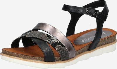 Sandale cu baretă MARCO TOZZI pe gri / gri argintiu / negru, Vizualizare produs