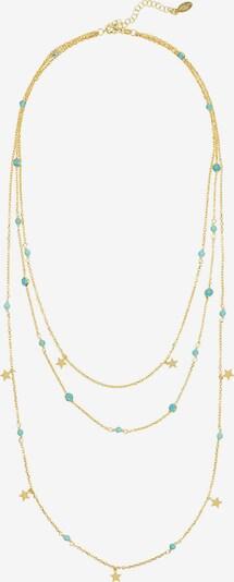 Latelita Ketting in de kleur Turquoise / Goud, Productweergave