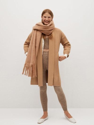 MANGO Pletený kabát - hnedá, Model/-ka