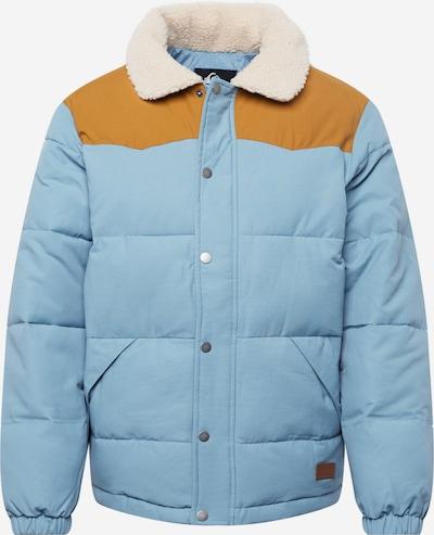 QUIKSILVER Jacke in rauchblau / cognac / naturweiß, Produktansicht