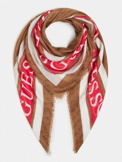 GUESS Pañuelo en marrón / rojo / blanco, Vista del producto