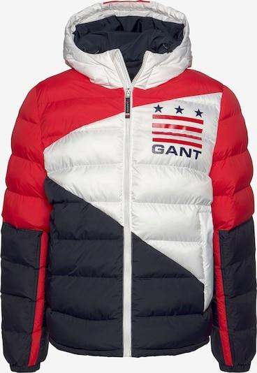 GANT Jacke in navy / hellrot / weiß / eierschale, Produktansicht