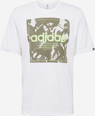 ADIDAS PERFORMANCE Funkční tričko - olivová / bílá, Produkt