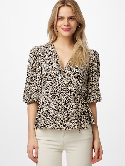 minimum Bluse 'Melany' in hellbeige / navy / weiß, Modelansicht