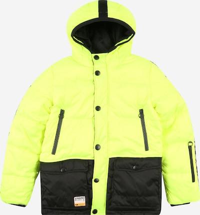 VINGINO Winterjas 'Tide' in de kleur Neongeel / Zwart, Productweergave