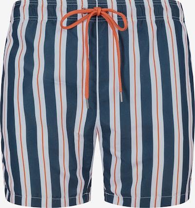 Skiny Badeshorts in nachtblau / orange / weiß, Produktansicht