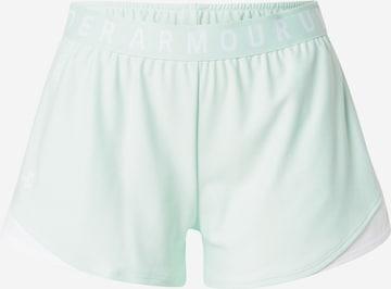 Pantalon de sport 'Play Up' UNDER ARMOUR en vert