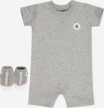 CONVERSE Set: Overall & Socken in dunkelgrau / graumeliert / schwarz / weiß, Produktansicht