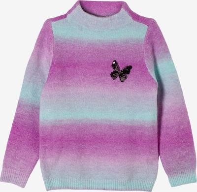 s.Oliver Trui in de kleur Mintgroen / Lichtlila / Pink, Productweergave