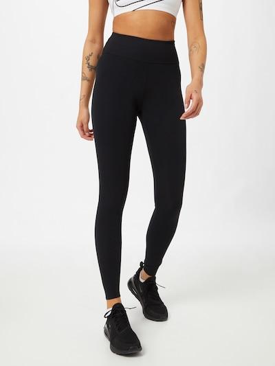 NIKE Pantalon de sport en noir, Vue avec modèle