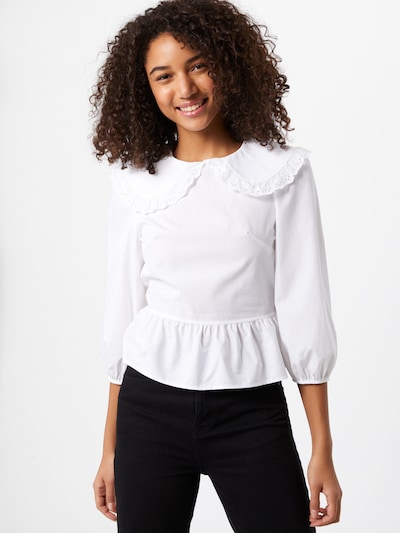 Miss Selfridge Bluse 'Poplin' in weiß, Modelansicht