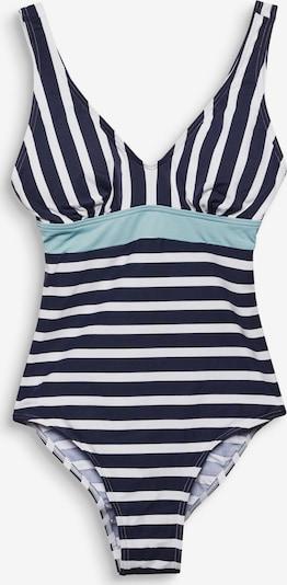 ESPRIT Badpak in de kleur Navy / Hemelsblauw / Wit, Productweergave