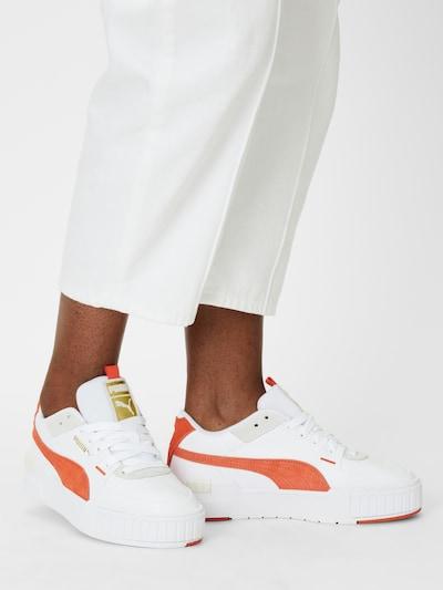 PUMA Sneaker 'Cali' in hellgrau / orangerot / weiß: Frontalansicht