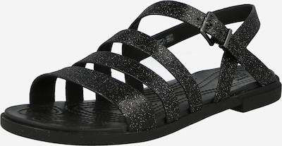 Sandale cu baretă Crocs pe negru, Vizualizare produs