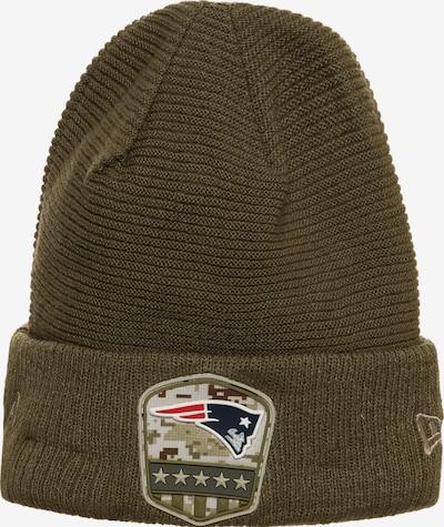 NEW ERA Beanie 'NFL New England Patriots' in oliv / rot / weiß, Produktansicht
