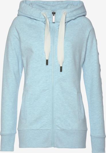 Elbsand Sweatjacke in pastellblau / weiß, Produktansicht